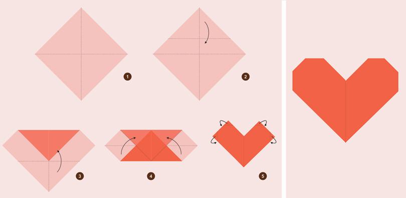Αποτέλεσμα εικόνας για οριγκάμι καρδιά σελιδοδείκτης